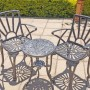 2 Seater Small Sunray, 62cm Table