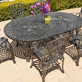 6 Seater Sunray, 100cm x 185cm King Classic Table